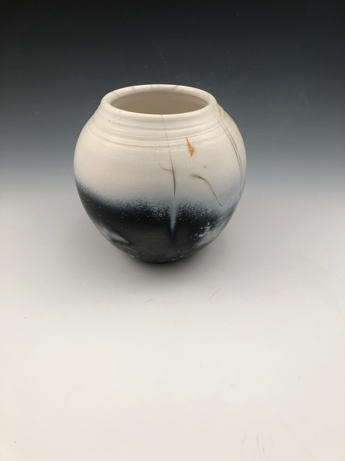 Saggar fired vase 10""