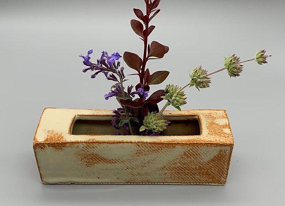 Rectangular ikebana vase