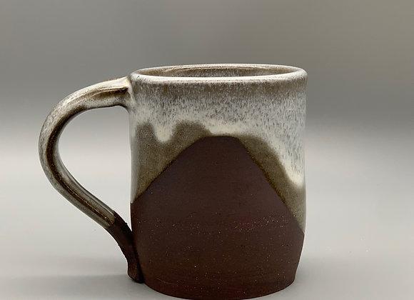 12 ounce ceramic coffee or tea mug in chocolate brown with white glaze