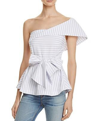 Striped One Shoulder