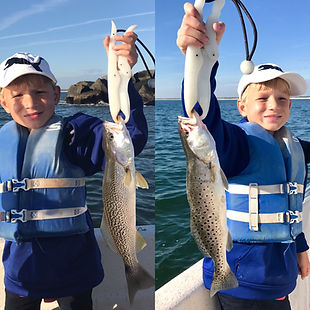 speckled trout vs grey trout fishing with Feel Good Fishing Charters & Adventures in Wilmington NC