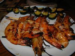 Shrimp on the braai.