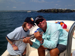Kids catching kid cobia. Aug 2013