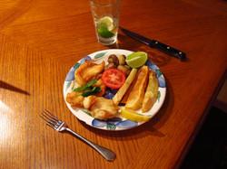 Fresh fish dinner.