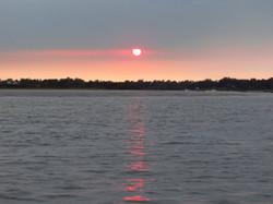 Sunset on Intracoastal Waterway.