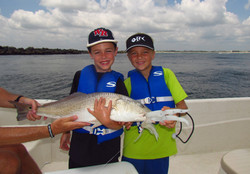 Great fish caught by two seven years