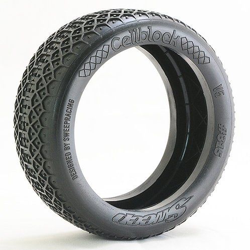 8th Buggy CellblockPre-glued set tires 4pcs