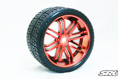 Road Crusher Red wheels pair