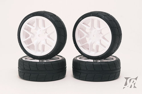 SSF-36AWPG Tread tires pre-glued set for Asphalt 4pcs