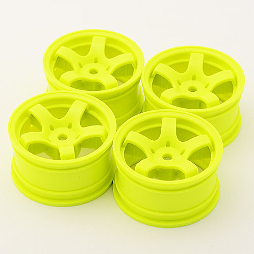 SW0011 Mini spoke wheels Yellow 4pcs