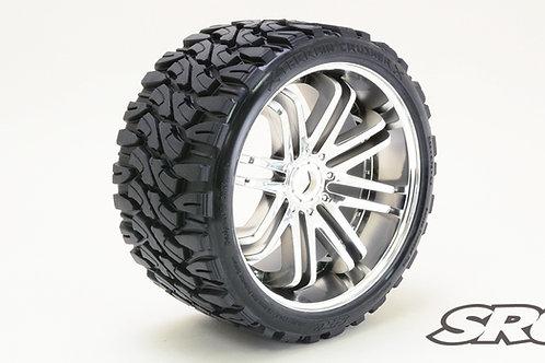 Terrain Crusher Silver wheels pair