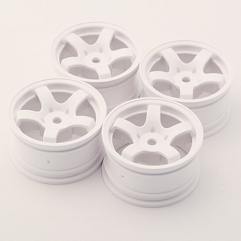 SW0001 Mini spoke wheels White 4pcs