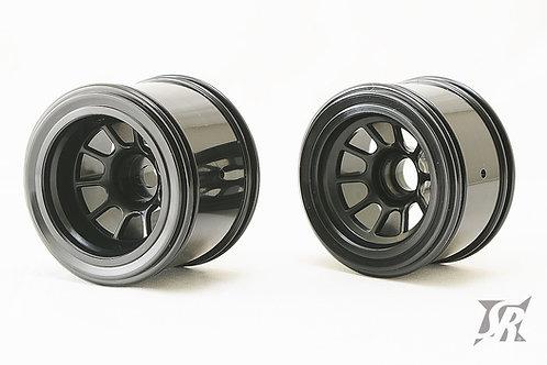 F1 Black wide offset wheels 4pcs