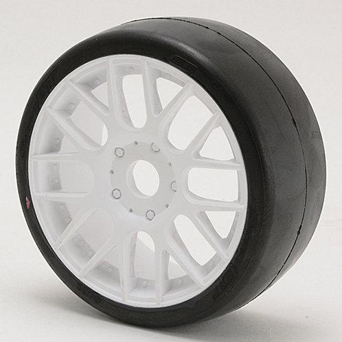 S40145EW16P GT8 Slick tires White wheels