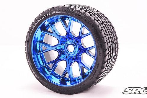 Road Crusher WHD wheels Chrome Blue pair