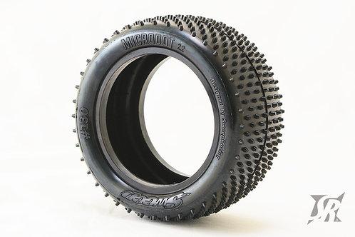 Micro Dot Rear tires Carpet/Astro turf Blue dot 2pcs