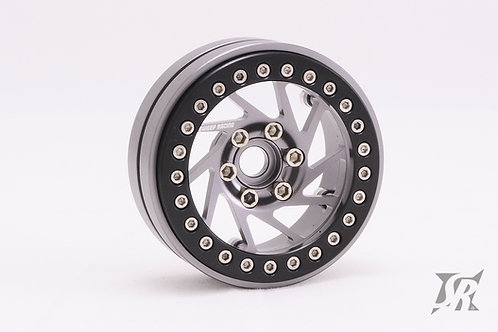"Spiral 1.9"" Beadlock aluminum wheels Gray 2pcs"