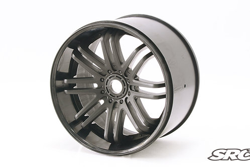 1/4 Zero offset Black wheels 2pcs