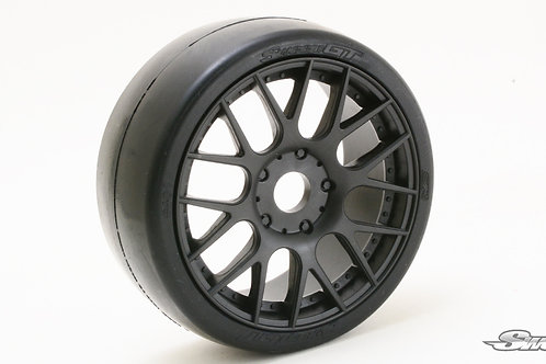 S40145EK16P GT8 Slick tires Black wheels 2pcs