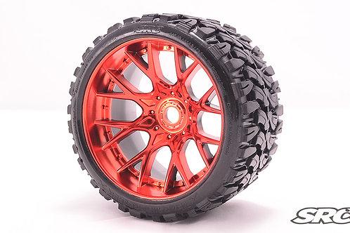Terrain Crusher WHD wheels Chrome Red pair