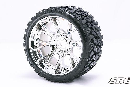 Terrain Crusher WHD wheels Chrome Silver pair