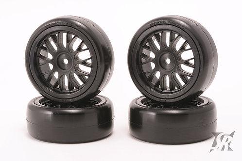 SQS-32PGL Slick tires pre-glued set for Carpet 4pcs