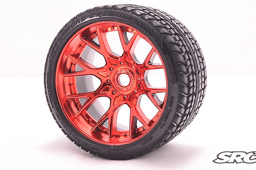 Road Crusher WHD wheels Chrome Red pair