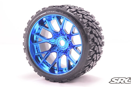 Terrain Crusher WHD wheels Chrome Blue pair