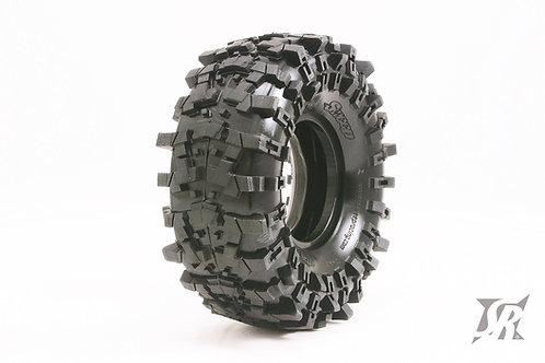 "TRILUG 1.9"" Rock Crawler tires Gold (Super Soft) 2pcs"