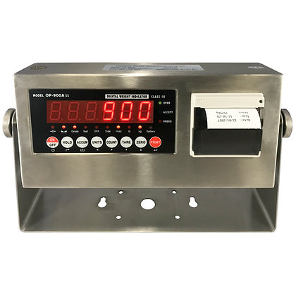 OP-900-SS-P Stainless Steel Indicator with Printer
