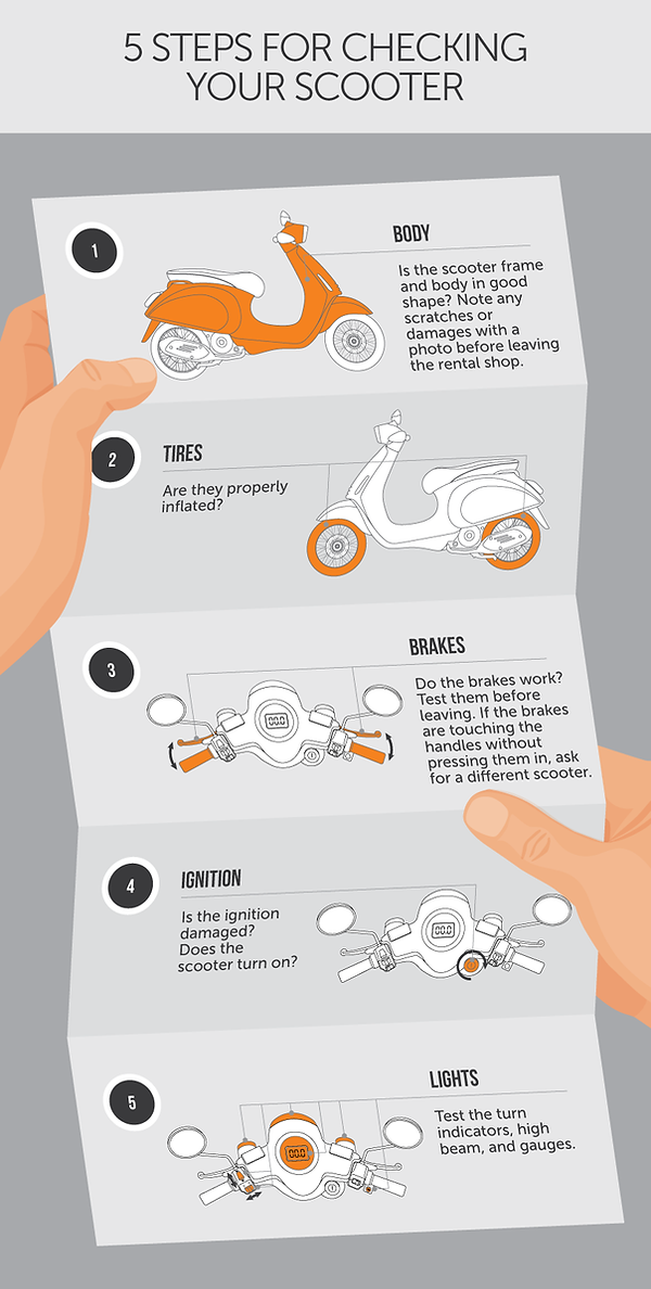 scooter rental 5 step ckeck