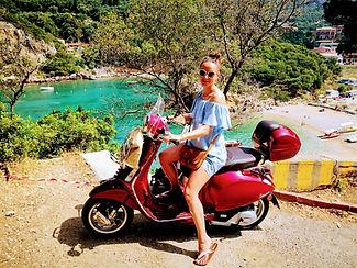 Corfu vespa tours Palaiokastritsa