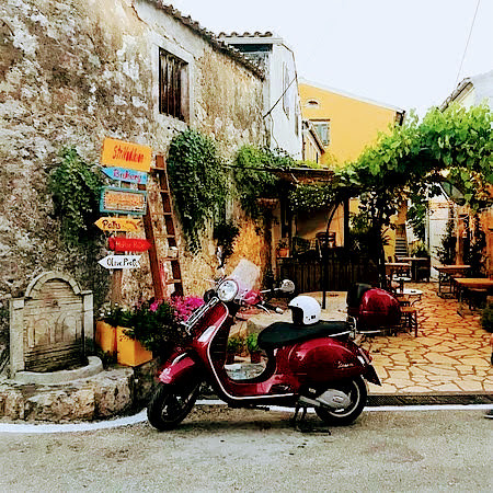 corfu vespa scooter tours