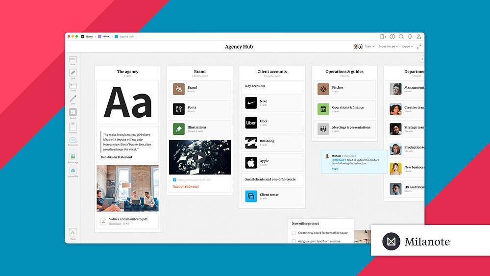 Milanote for creative visual team collaboration