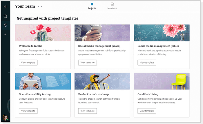 Dozens of project templates