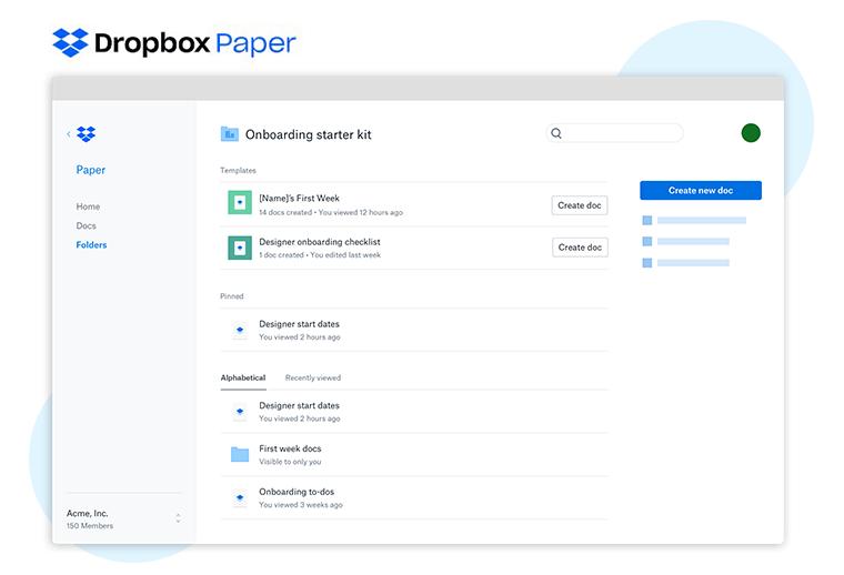 Dropbox Paper Content Collaboration