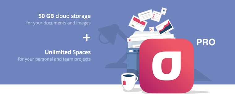 Infolio Pro — 50GB Storage + Unlimited Spaces