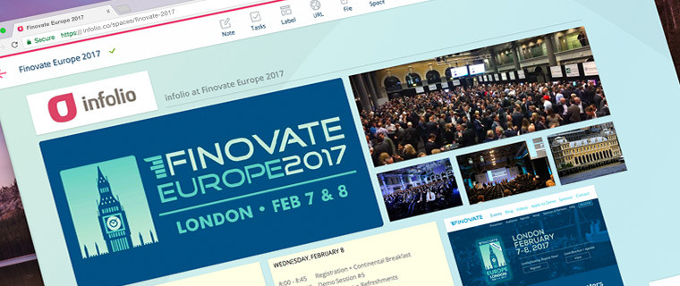 At FinovateEurope 2017 Infolio presented its Digital Workplace solution