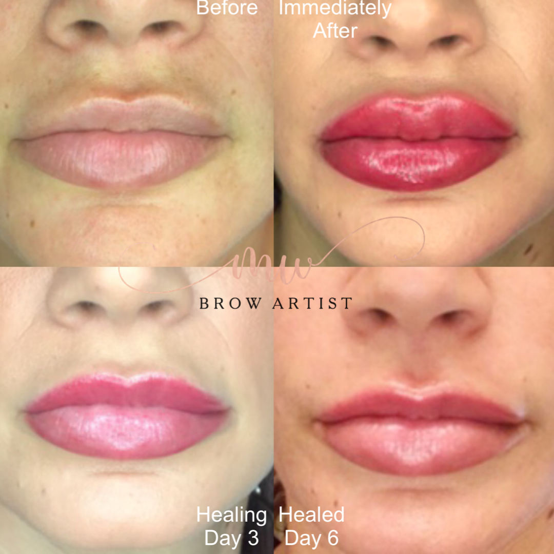 Lip Shading Healing Process
