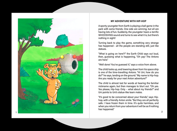 sample story pages