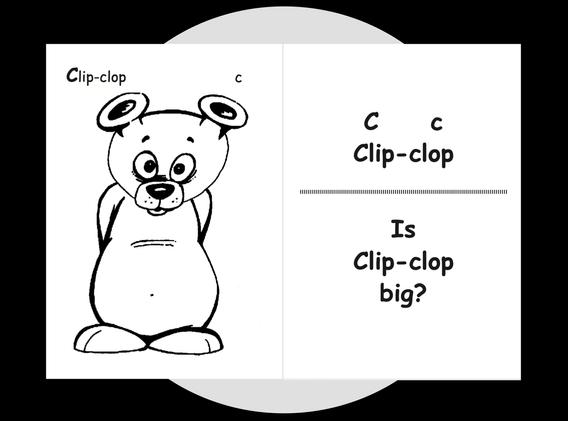 Clip-clop's colouring page