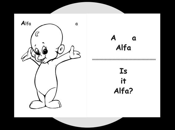 Alfa's colouring page