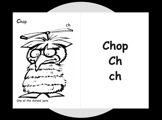 Chop's Colouring page