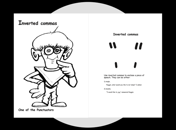 Inverted Comma's Colouring page