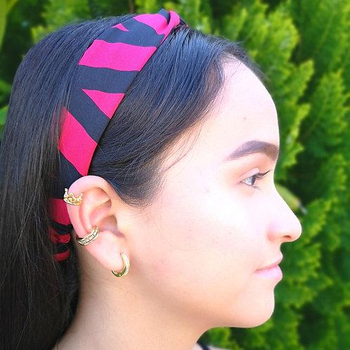 Banda cabello Estampado Magenta