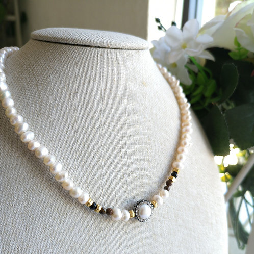 Collar de Perlas con Marquesita