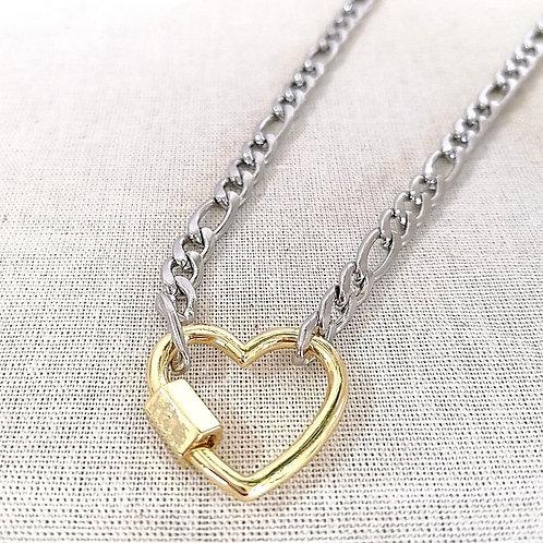 Collar Corazón dorado
