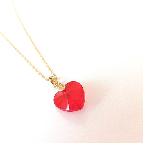 Corazón de Swarovski mediano