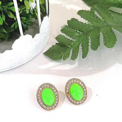 Aretes Piedra verde