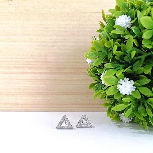 Aretes Triángulo con brillo